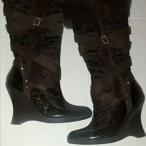 Brown Baby Phat Limoux High Shaft Footwear Boots